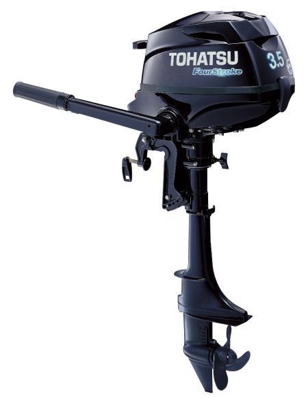 4st010 1024x1024 - Tohatsu 4-Stroke 3.5HP Outboard Motor, Tiller Handle, New 2018