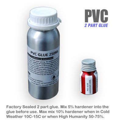 glue and hardenerPVC 1024x1024 400x400 - Marine Grade 250ml Parts Adhesive Kit