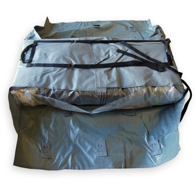 Hull Bag 2 650x650 - Foldable Inflatable Boat Hull Storage and Carrying Bag