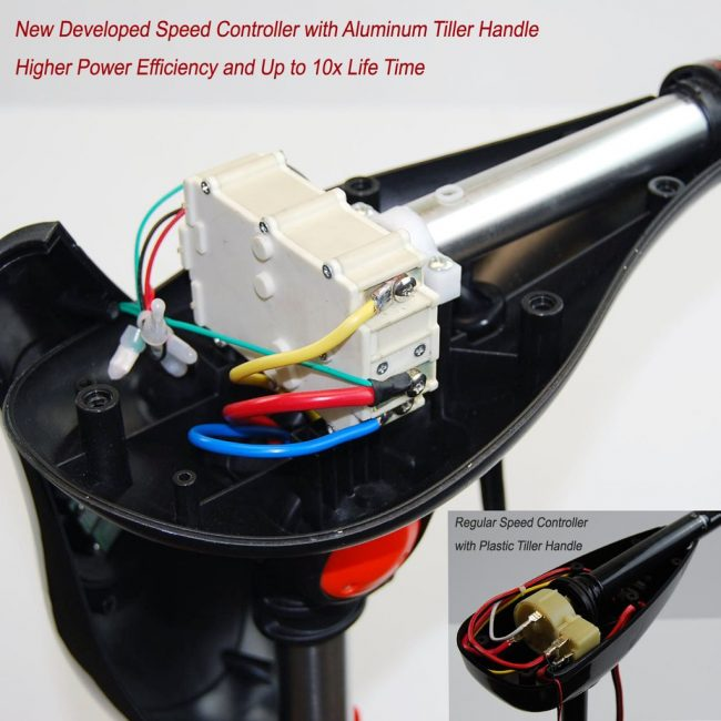 New Controller 650x650 - Seamax 12V SpeedMax Electric Trolling Motor with 32 Inches Shaft 55 to 65 Lbs Thrust (2018 Edition)
