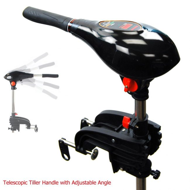 New Tiller Handle head 2 650x651 - Seamax 24V SpeedMax Electric Trolling Motor with 40 Inches Shaft, 90 Lbs Thrust