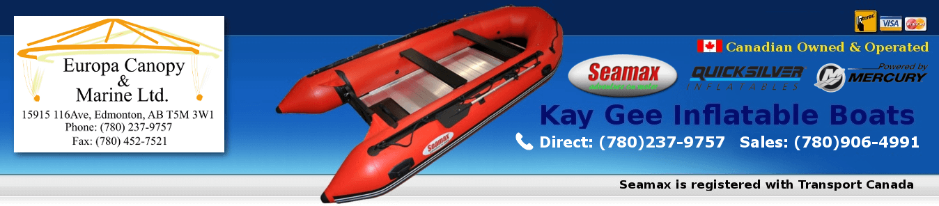 Europa Canopy & Marine | Kay Gee Inflatable Boats